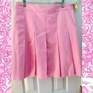Lilly Pulitzer Pink Pleated Skirt Size 8
